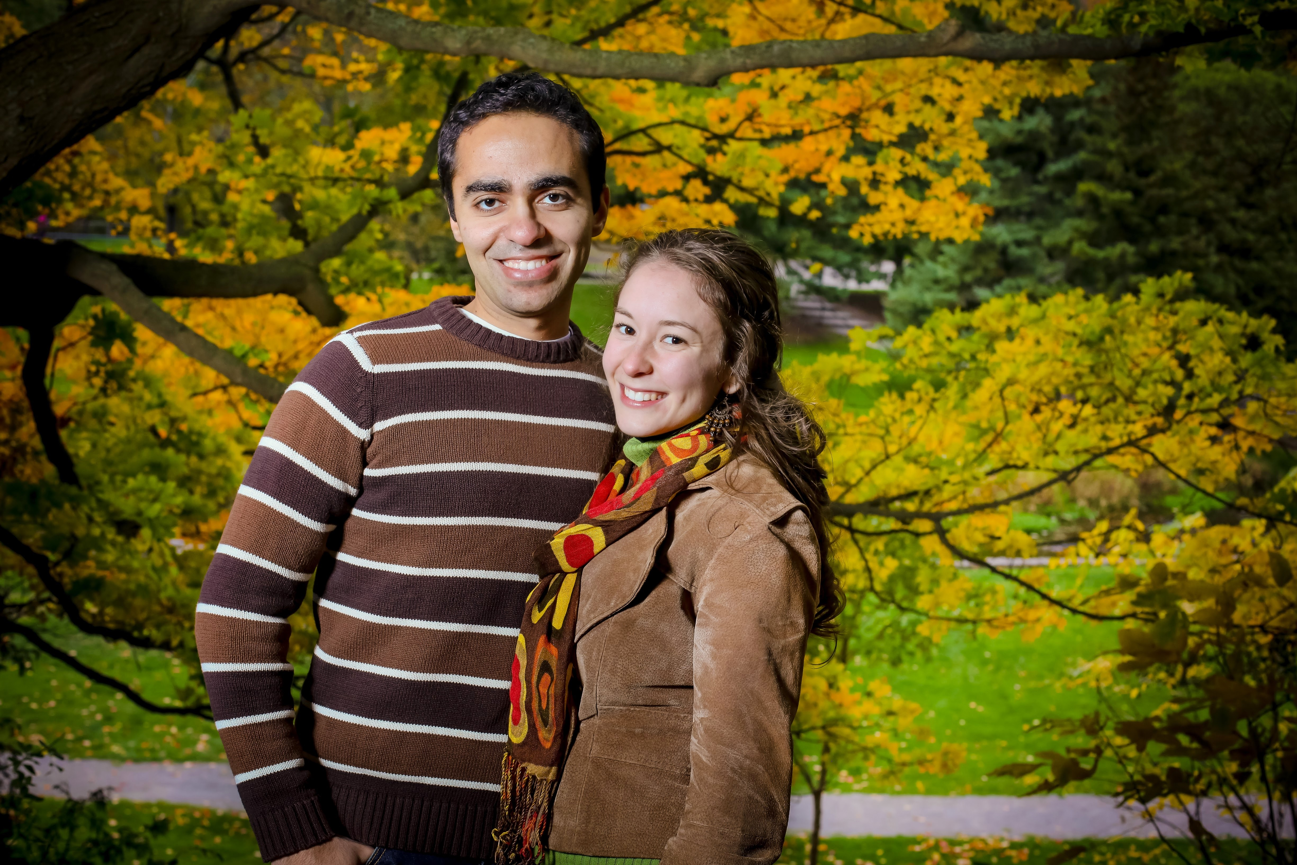 Our Story - Sameh and Geraldine in a park